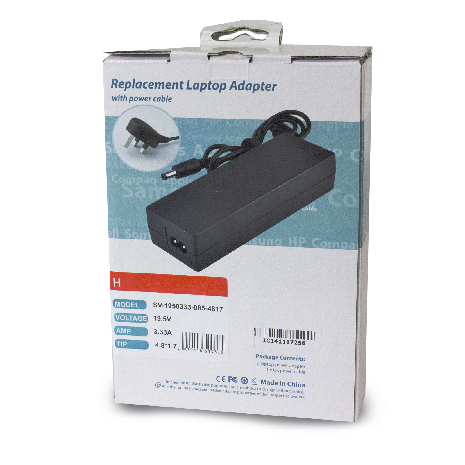 HP Envy 4 Envy 6 Compact 195V 333A 65W Charger 48mm X 17mm
