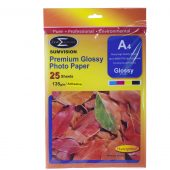 A4 glossy adhesive 135 gsm