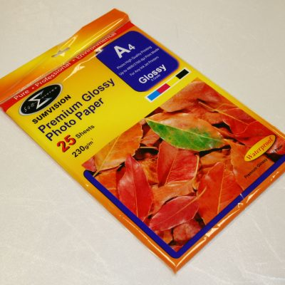 A4 glossy paper 230 gsm [25 pack]