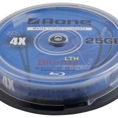 Aone Blu-ray 4x White Inkjet Printable [10 Pack]
