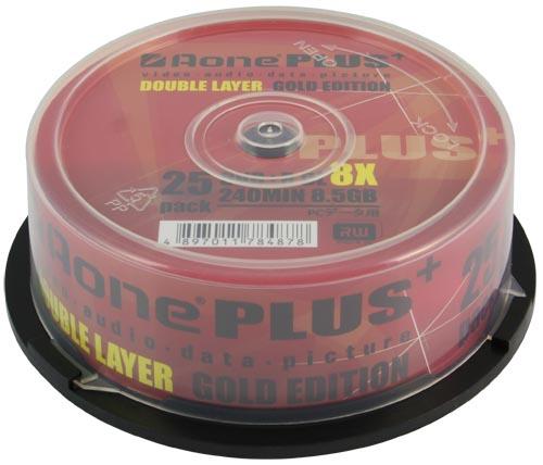 DVDR 8X DL Gold Edition 25pack
