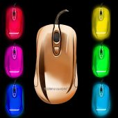 MOUSE LED PLASMA - multi colour black