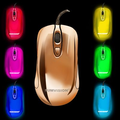 MOUSE LED PLASMA – multi colour black
