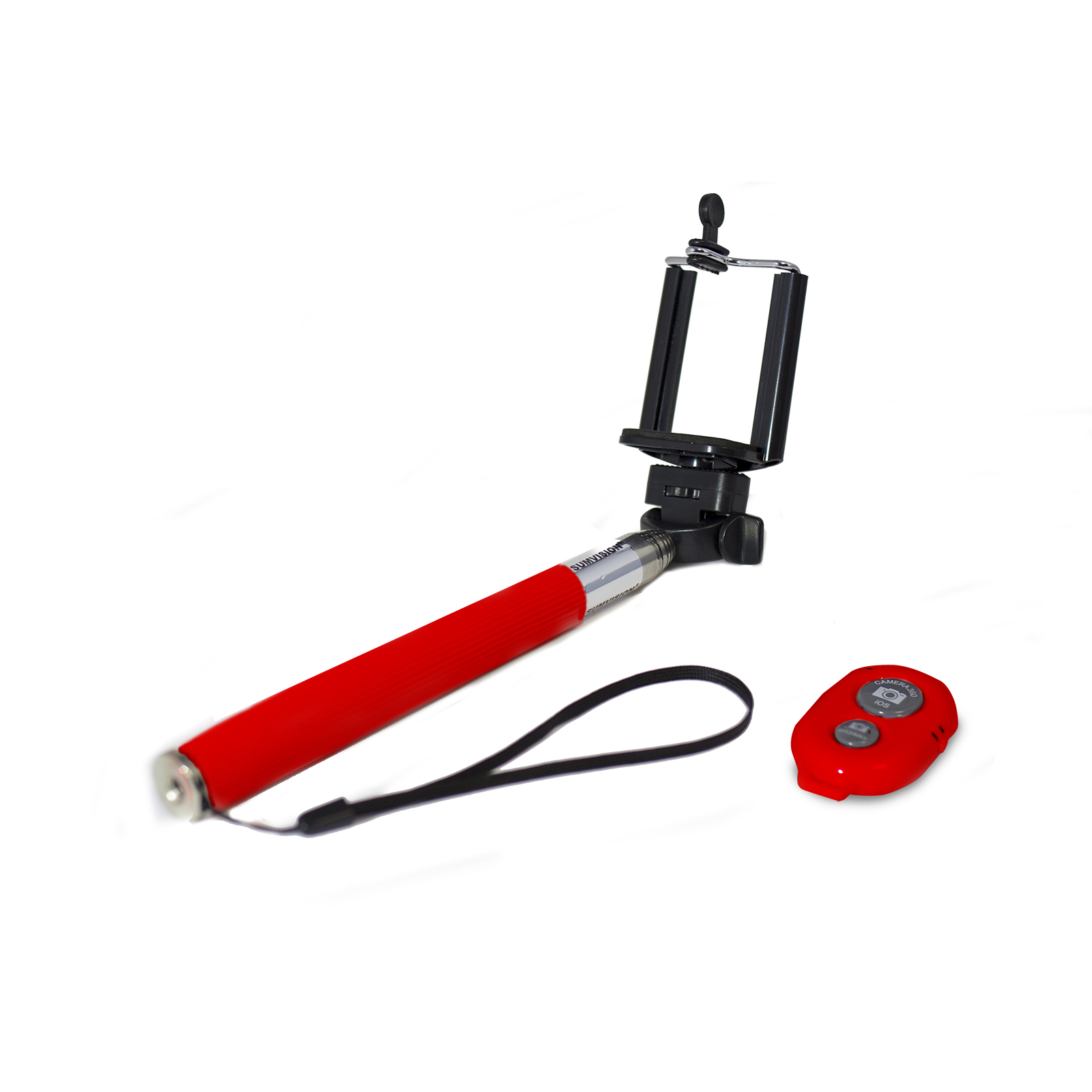 sumvision red selfie monopod with remote mt components ltd. Black Bedroom Furniture Sets. Home Design Ideas